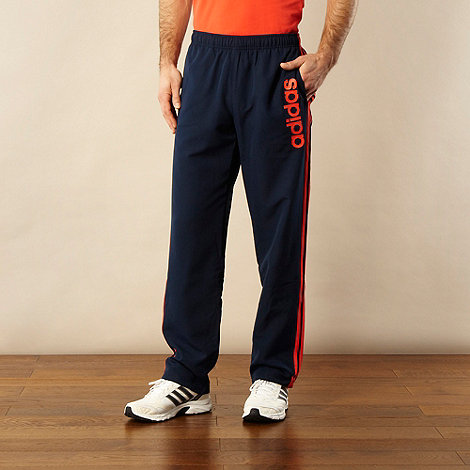 adidas - Navy oversized logo printed jogging bottoms