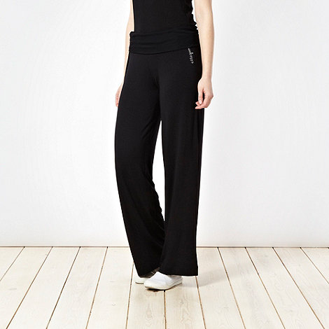 Elle Sport - Black draped jogging bottoms