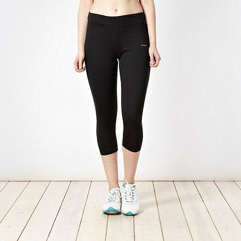 Reebok - Black   length slim fit jogging bottoms