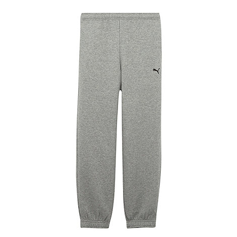 Puma - Boy+s grey sweat jogging bottoms