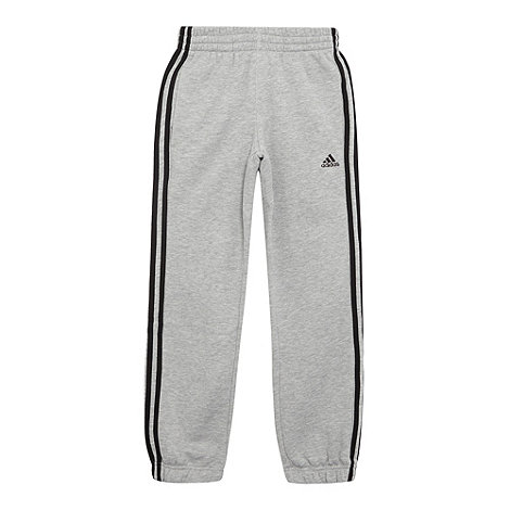 adidas - Boys+ grey essential jogging bottoms