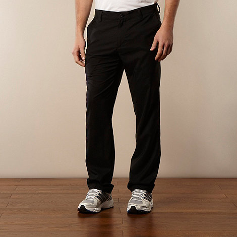 adidas - Black flat front trousers