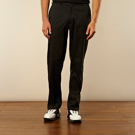 Nike - Black flat front trousers
