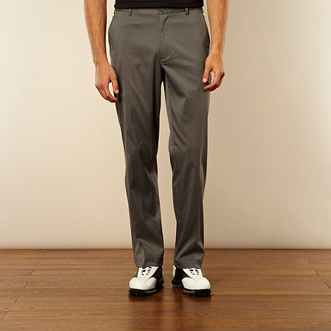 Nike - Grey flat front trousers