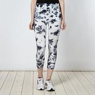 Adidas black splatter leggings