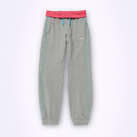 Nike - Grey ribbed cuff jogging bottoms
