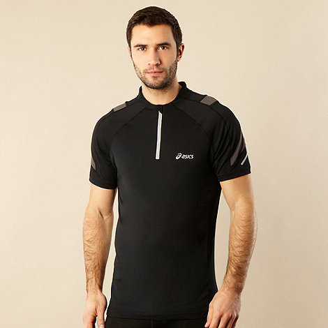 ASICS - Black quarter zip running top