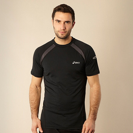 ASICS - Black reflective sports t-shirt