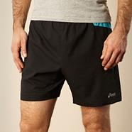 Black panel running shorts