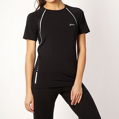 ASICS - Black reflective crew necked t-shirt