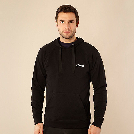 ASICS - Black branded sweat hoodie