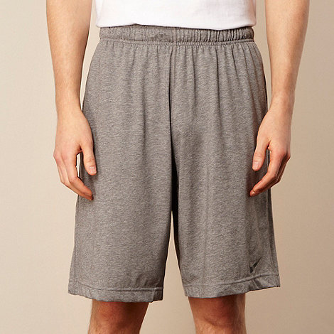 Nike - Grey +Dri-FIT+ cotton blend shorts