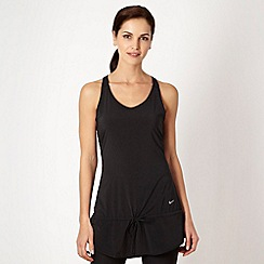 Nike - Black perforated running dress