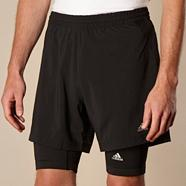 Adidas black 365 2 in 1 cycle shorts