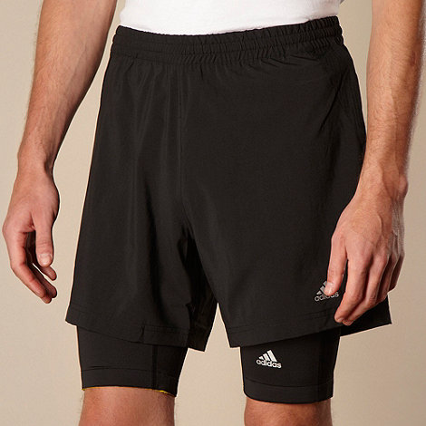 adidas - Black 365 2 in 1 +Formation+ cycle shorts