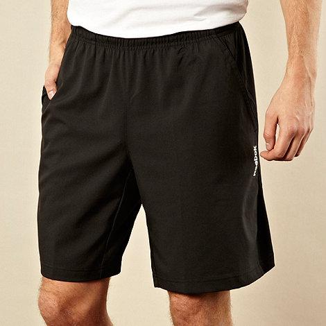 Reebok - Black woven fitness shorts