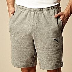 Puma - Grey plain sweat shorts