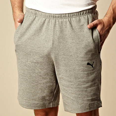 Puma - Grey plain sweat shorts