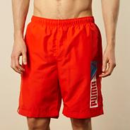 Dark orange logo 'Bermuda' board shorts