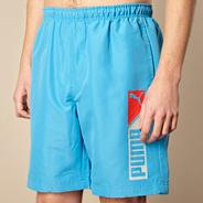 Light blue logo 'Bermuda' board shorts