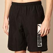 Black logo 'Bermuda' board shorts