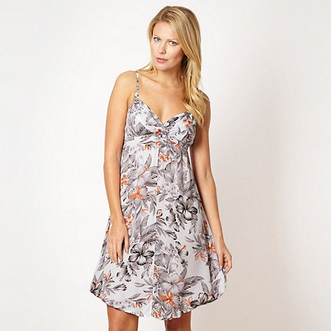 O'Neill - White tropical print dress