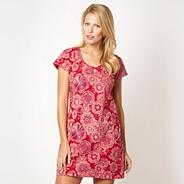 Red 'Pasha' printed dress