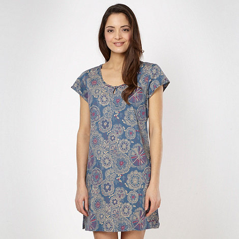 Weird Fish - Blue floral jersey dress