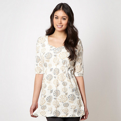 Weird Fish - White textured floral tunic