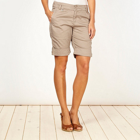 Weird Fish - Beige turn back shorts