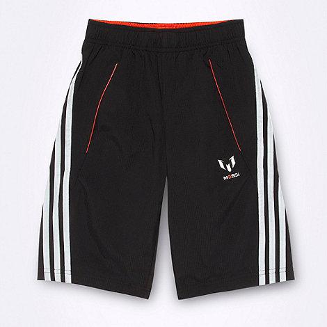 adidas - Boy+s black woven striped shorts
