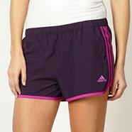 Adidas purple 'M10' shorts