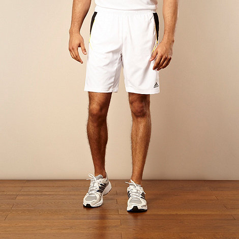 adidas - White striped +ClimaCool+ shorts