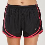 Nike black mesh panelled shorts