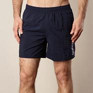 Navy essential logo printed board shorts