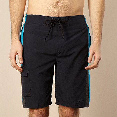 Speedo - Navy contrasting panelled board shorts