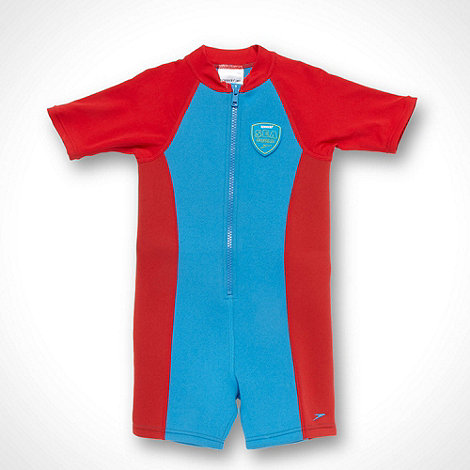 Speedo - Boy+s red panelled sunsafe wetsuit