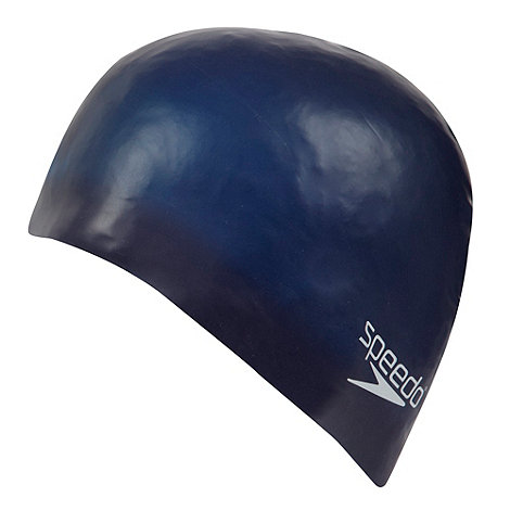 Speedo - Blue plain moulded silicone cap