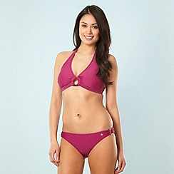 Protest - Purple buckle halter neck bikini set