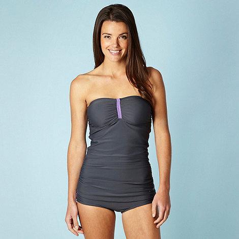 Elle Sport - Grey tummy control tankini set