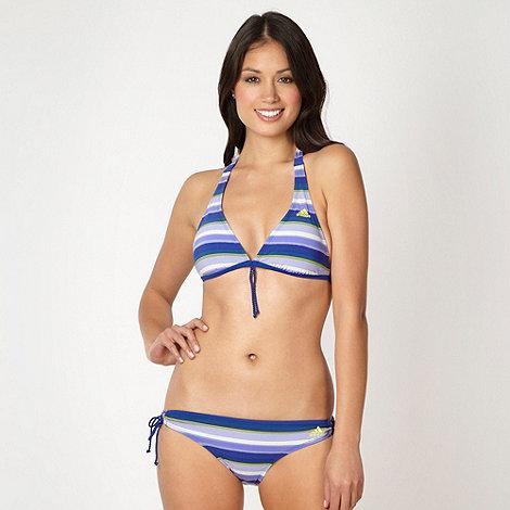 adidas - Blue striped padded bikini