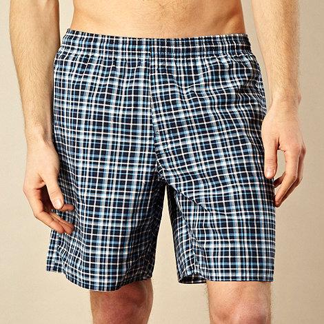 adidas - Navy checked board shorts