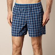Adidas blue checked board shorts