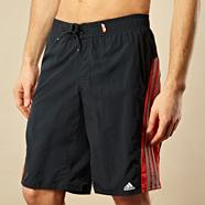 Adidas dark grey side panelled board shorts