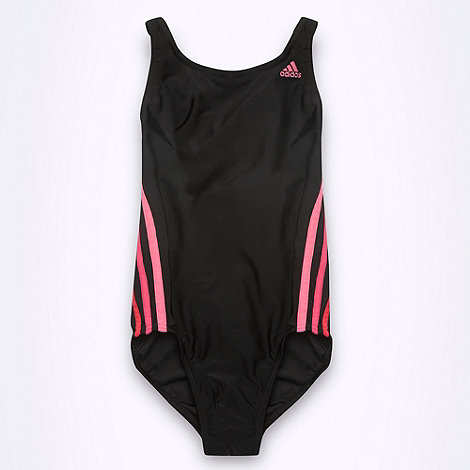 adidas - Girl+s black +Performance+ swimsuit