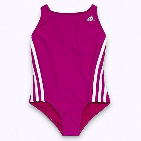 adidas - Girl+s purple one piece swim suit