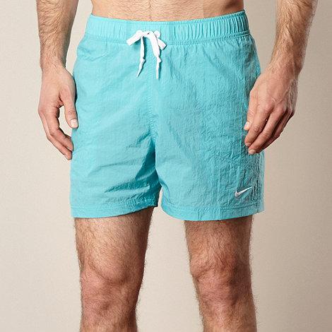 Nike - Turquoise plain swim shorts