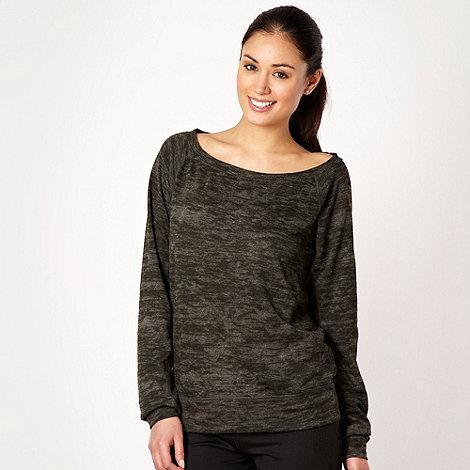 Nike - Dark grey wide boat necked sweatshirt