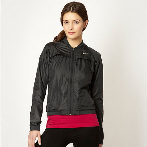 Nike - Women+s black running jacket