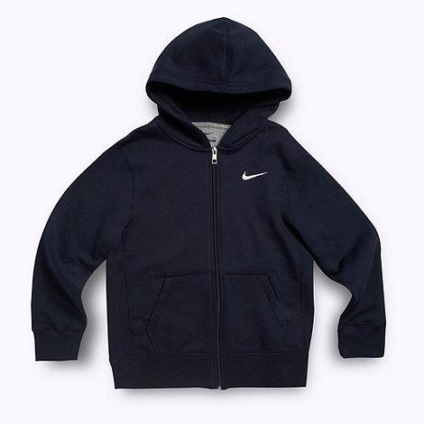 Nike - Boys navy blue hooded sweat top